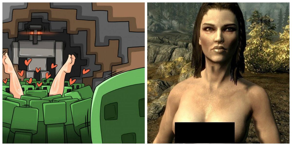 Porno en Skyrim y Minecraft